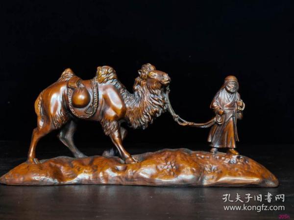 黄杨木雕沙漠之行9x19.5