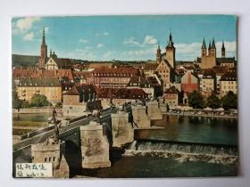 德国符兹堡桥梁老照片明信片。价格运费可协商