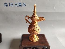 辽代鎏金宝石酒壶