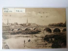 英格兰桥梁老照片明信片。价格运费可协商