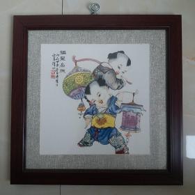 童趣瓷版(四幅画)