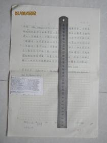 北大物理系教授唐子健手稿:韦特[中国大百科全书数学辞条]中国工程院院士周志成审稿
