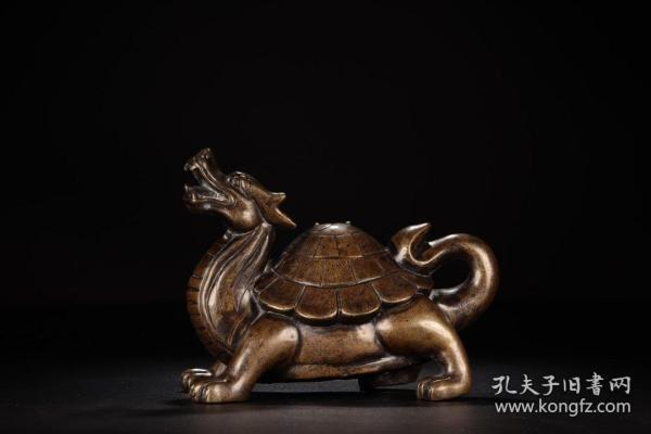 清代,铜制龙龟镇纸