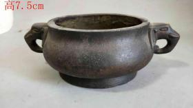 乡下收的明代紫铜香炉6