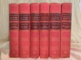 """奢华版:The Second World War   六卷套  (《丘吉尔二战回忆录》<六册全 """"查特韦尔庄园版本"""", 红色布面精装)"""