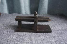 清代老木雕老玩具乐器