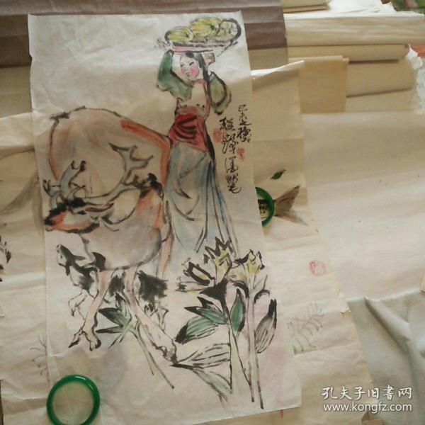 自鉴定老片,著名画家画稿委托人急售。水平高,画32*60。纯手绘