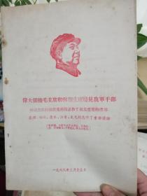 伟大领袖毛主席和林副主席接见我军干部,林副主席向被接见的同志作了极其重要的指示