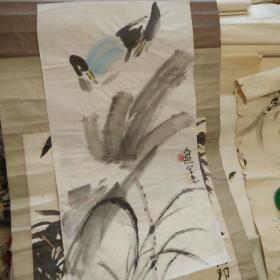 自鉴定老片!著名画家画稿委托人急售。水平高,画32*60。纯手绘