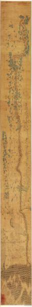 古地图1644-1911 黄河图。纸本大小42.11*393.16厘米。宣纸原色仿真。