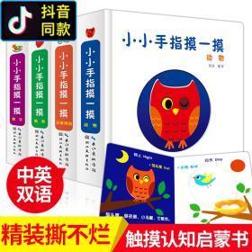 全4册小小手指摸一摸翻翻书绘本两三岁宝宝书籍0-1-2-3周岁立体书一岁半 洞洞书 婴儿 早教 益智启蒙儿童触摸书3d婴儿图书感官刺激