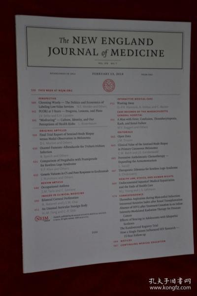 THE NEW ENGLAND JOURNAL OF MEDICINE 2014/02/13 新英格兰医学