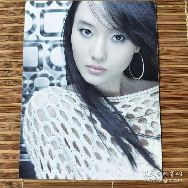 韩国女星歌词写真卡3张