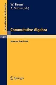 COMMUTATIVE ALGEBRA: PROCEEDINGS OF A WORKSHOP HELD IN SALVADOR, BRAZIL, AUG. 8-17, 1988: WORKSHO...