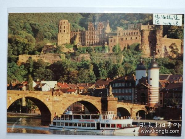 德国海德堡桥梁老照片明信片。价格运费可协商