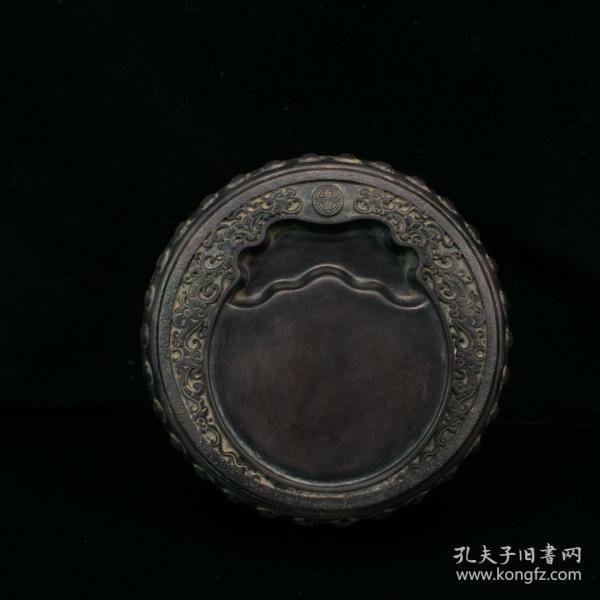 wj0886旧藏 端石鼓形文房砚