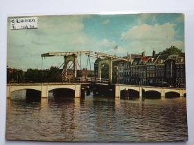 荷兰阿娒斯特丹桥梁老照片明信片。价格运费可协商