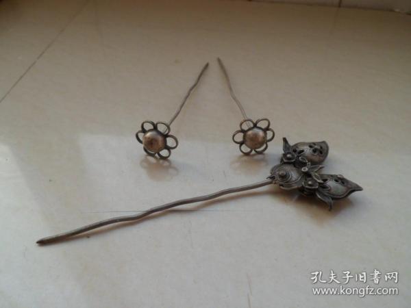 唐代老银钗
