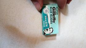 超级蓝吉列 白金涂层(刀片)1盒8个