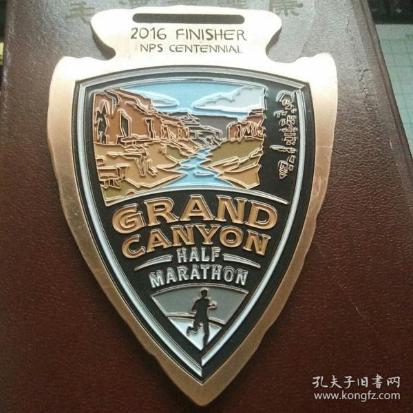 国外马拉松纪念大铜章 精美紫铜尺寸特大140×100毫米