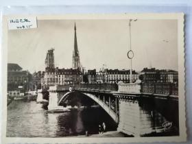 法国巴黎桥梁老照片明信片。价格运费可协商