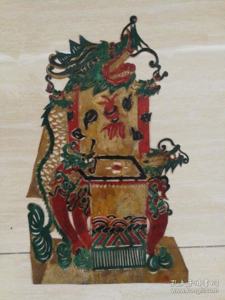 清代老皮影-梳妆台
