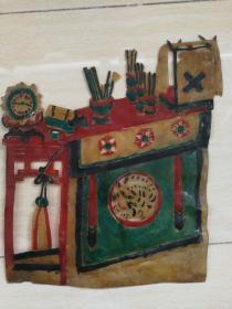 清代老皮影-书桌