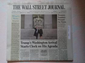 THE WALL STREET JOURNAL 华尔街日报 2017/01/20  外文原版报纸 装饰道具