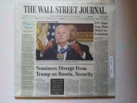 THE WALL STREET JOURNAL 华尔街日报 2017/01/13  外文原版报纸 装饰道具