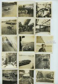 民国1938年淞沪事变后,意大利海军士兵拍摄的上海照片一组15张,军舰,黄浦江,码头,仓库建筑等。其中几张表现出的日军和意军在中国的亲密友好程度比较少见。