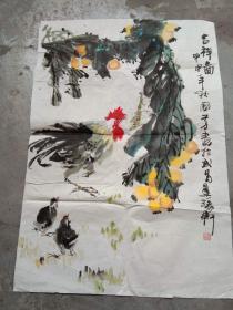 国芳国画作品;吉祥画[69x48]