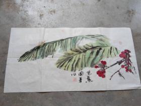 国芳国画作品;芭蕉[69x34]