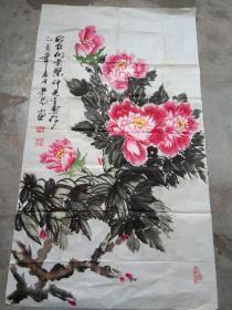 包荣昌国画作品;牡丹花2[121x69]