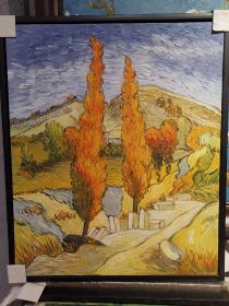 山上的两棵杨树