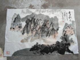国芳国画作品;黄山秋色[89x53]