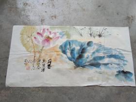 国芳国画作品;荷香[68x34]