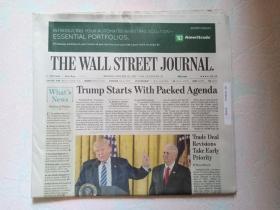 THE WALL STREET JOURNAL 华尔街日报 2017/01/23  外文原版报纸 装饰道具