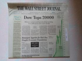 THE WALL STREET JOURNAL 华尔街日报 2017/01/26  外文原版报纸 装饰道具