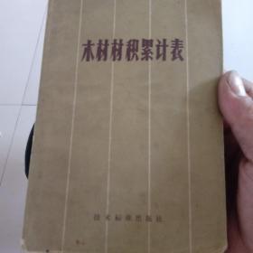 木材材积累计表 本书1970年出版,1977年第五次印刷。