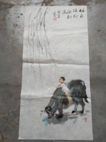 国芳国画作品;挂新绿[69x34]