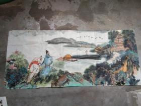 国芳国画作品;山水人物[146x63]