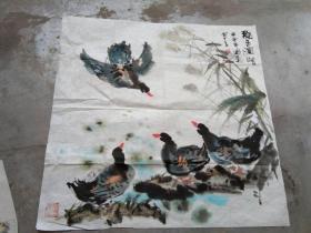 国芳国画作品;甲申年[69x69]
