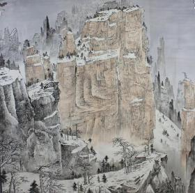 精品山水   画心145+145厘米   ,3款,唐一晖