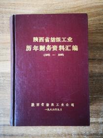 陕西省纺织工业历年财务资料汇编(1981—1985)
