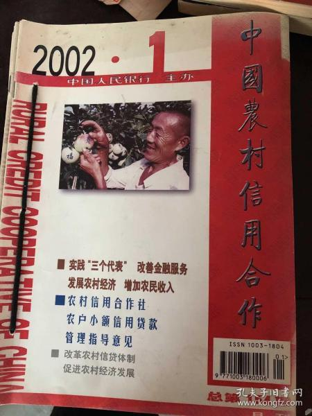 中国农村信用合作杂志2002年全年合订本。
