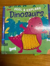 Om FEEL & EXPLORE  Dinosaurs(美国进口触摸书)