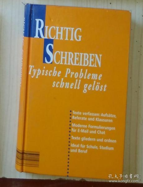 德文原版 Typische Probleme Schnell Gelöst by Richitg Schreiben 著