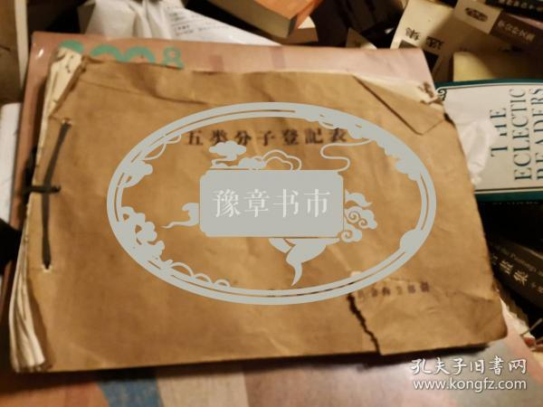 江西樟树市文献:1971年 清江县昌傅大队 五类分子登记表 一册,均有照片