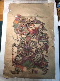 木版年画,老门神年画一张。