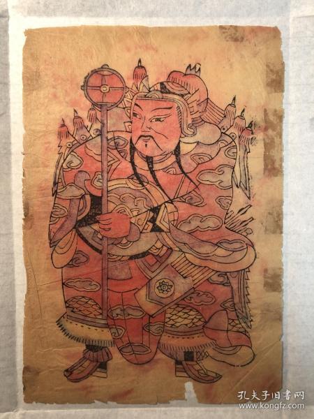木版年画、老门神年画一幅。